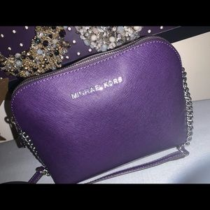 MK dome crossbody in purple